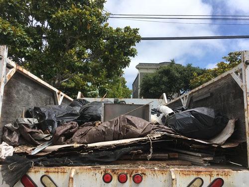 A dump run from the back yard