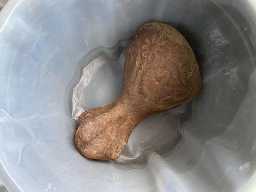 rusty clawfoot tub foot