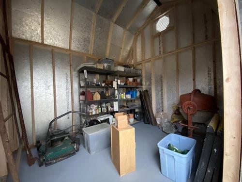 Filled up shed
