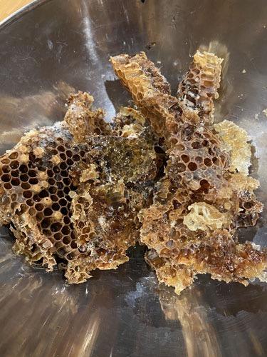 Waste brood comb