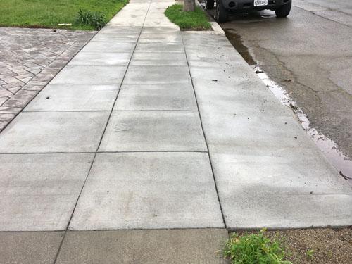 Fancy new driveway