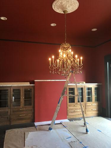 Dining room chandelier working
