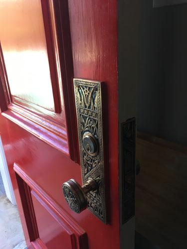 Fancy new doorknob